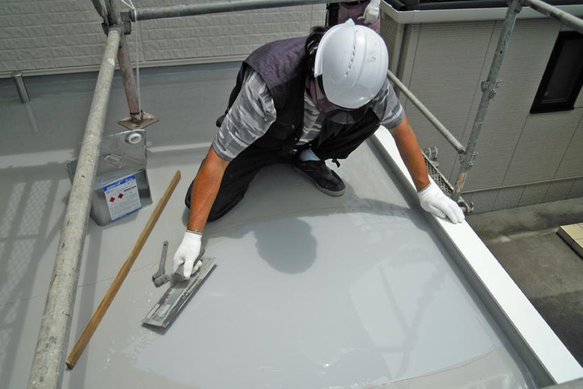 屋根遮熱塗装、陸屋根ウレタン防水、外壁塗装