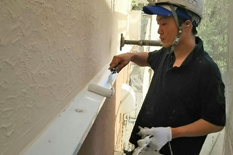高遮熱屋根塗装、モルタル外壁のジョリパット塗装、ベランダ防水塗装
