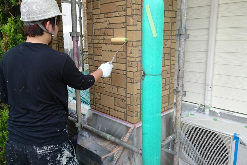 屋根の遮熱塗装と外壁のUVプロテクト・クリアー塗装、コーキング打替、ベランダ防水トップ