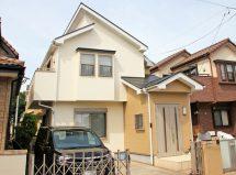 伊奈町で、屋根遮熱塗装、ツートンカラーに外壁塗装、コーキング打替の施工例