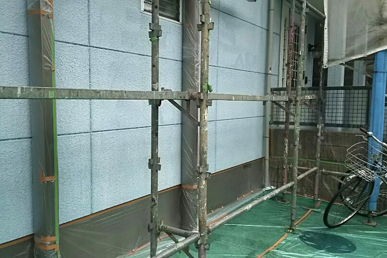 セメント瓦の遮熱塗装とALC外壁塗装、ベランダウレタン塗膜防水