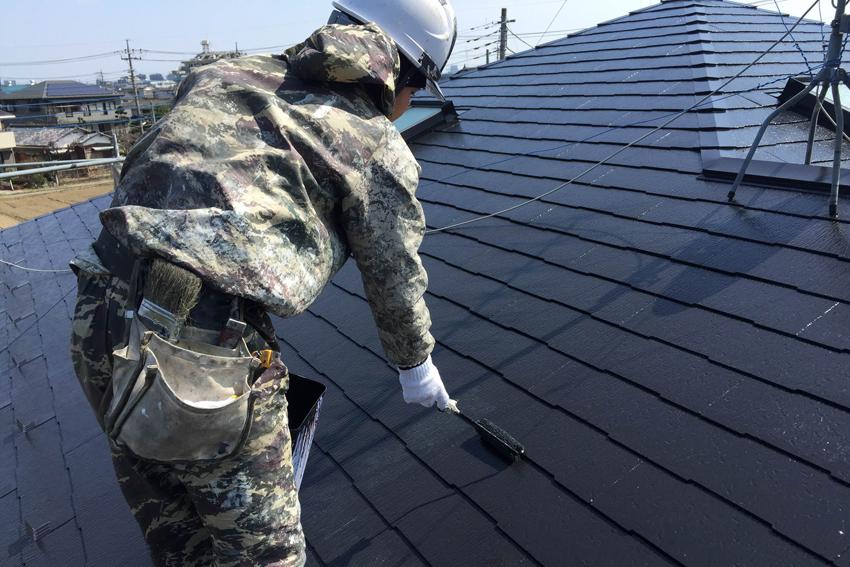 高遮熱屋根塗装、モルタル外壁ひび割れ補修、外壁塗装