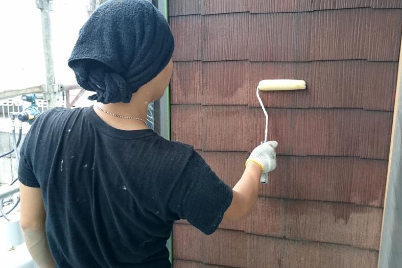 アパート/折板屋根塗装、外壁塗装、ベランダ防水、鉄骨補強と塗装