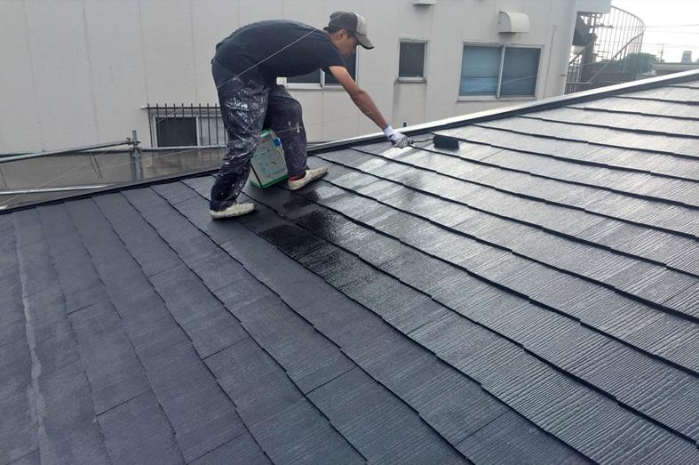 アパート/スレート屋根塗装、金属外壁塗装、貯水槽遮光塗装
