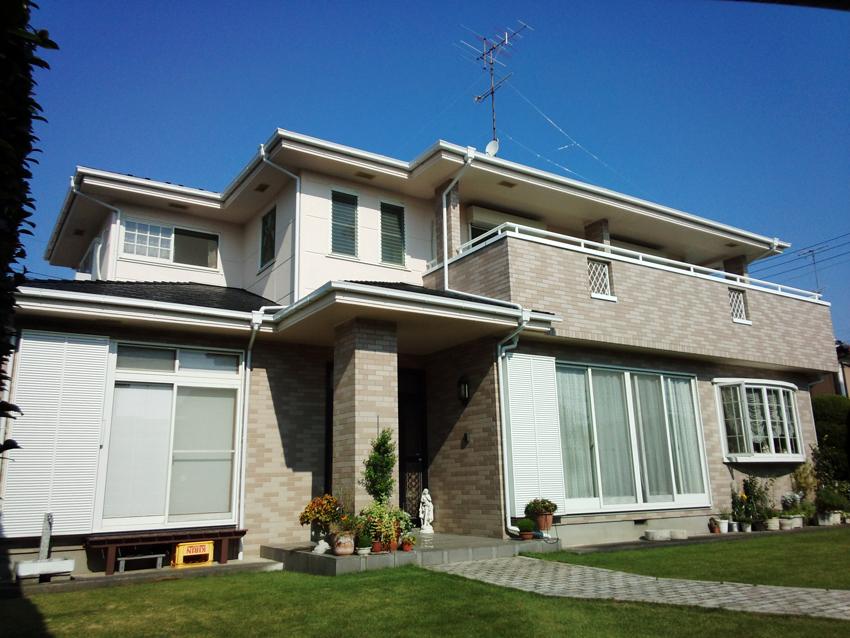 厚型スレート屋根・ALC外壁塗装、ベランダ防水トップコート