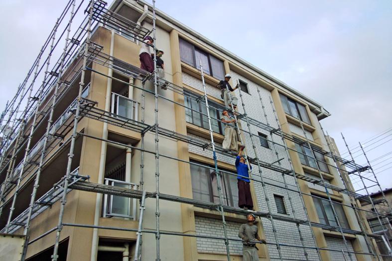 マンションの塗装と防水工事