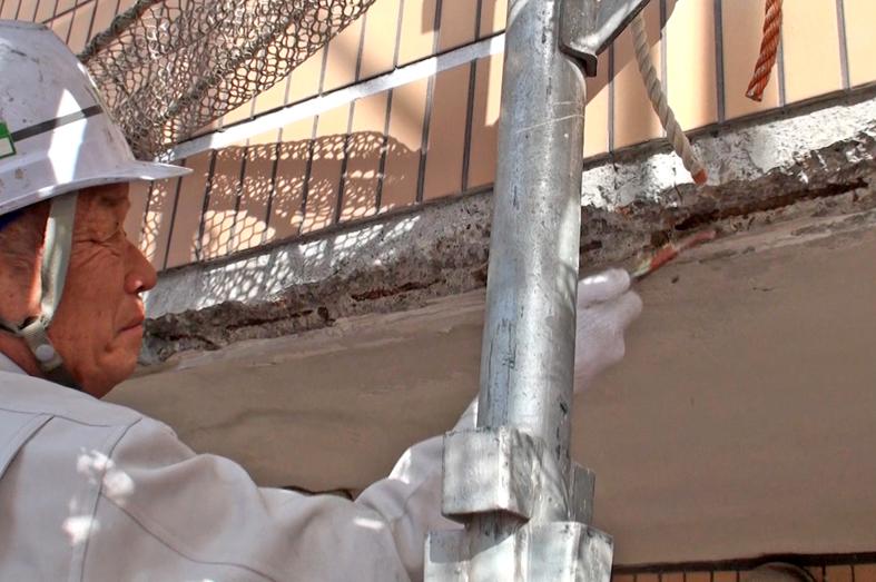 マンションの屋上防水とタイル外壁クリア塗装