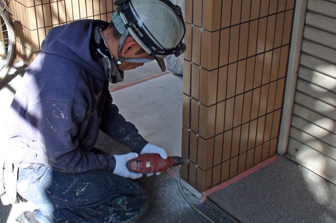タイル外壁の浮き補修