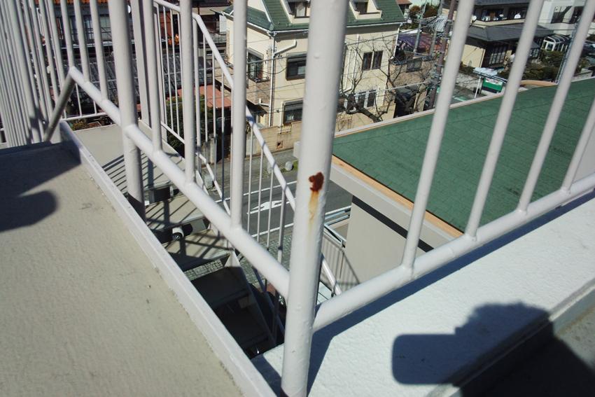 マンションの外部階段補修と塗装