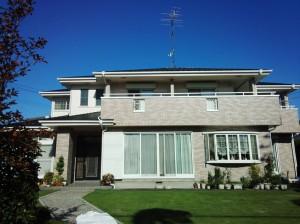 上尾市(屋根塗装、外壁塗装、ベランダ防水塗装、塀塗装工事)