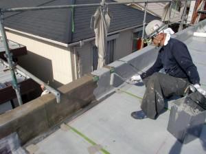 さいたま市北区、テラスハウス、屋上防水工事、パラペット