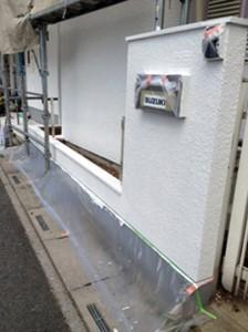 さいたま市中央区(屋根塗装、外壁塗装、ベランダ防水工事)で、塀塗装