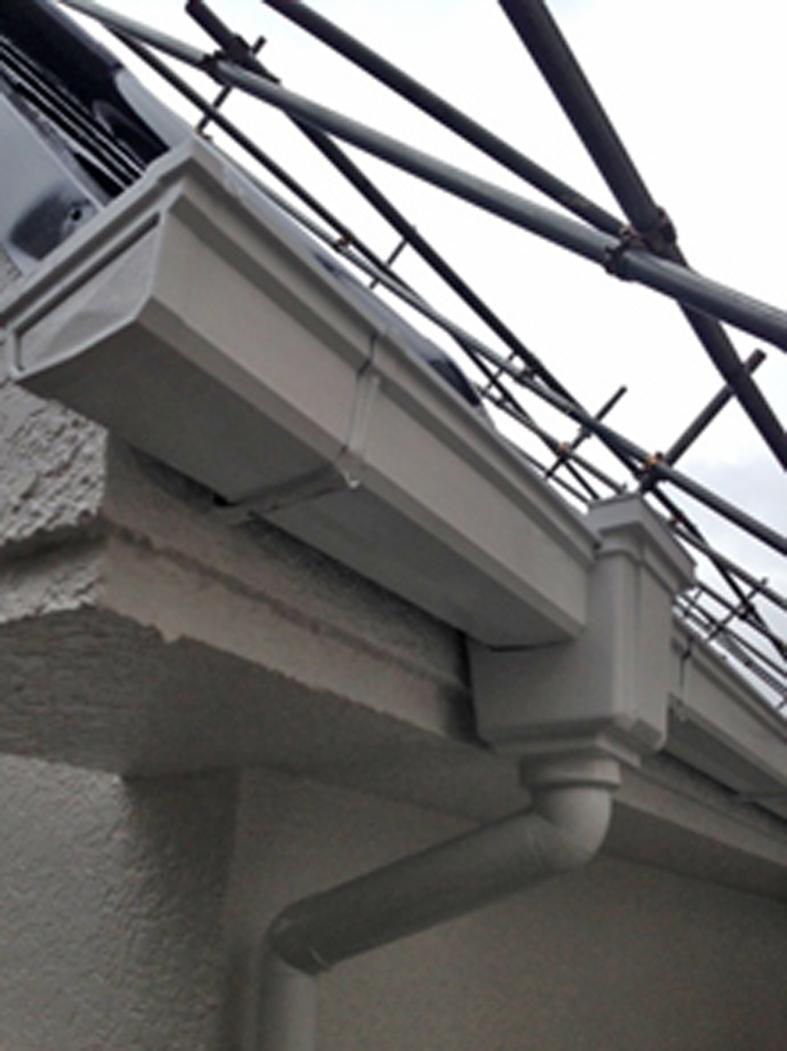 店舗兼住宅-屋根塗装、外壁塗装、ベランダ防水工事