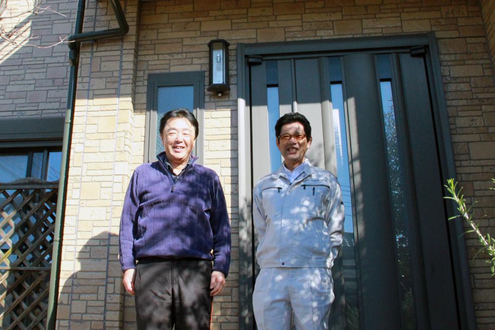 さいたま市大宮区、N様邸、外壁塗装(溶剤系UVカット・クリアー塗料)