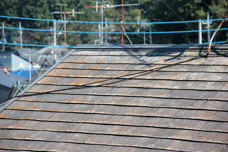 スレート高遮熱屋根塗装、サイディング割れ補修、外壁塗装、ベランダ防水塗装