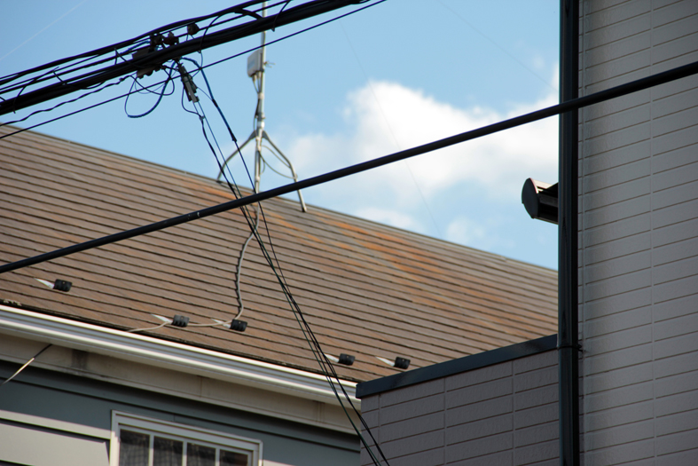 スレート屋根高遮熱塗装、ドイツ張りサイディング外壁塗装