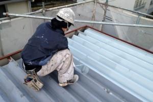 さいたま市大宮区、アパート(屋根塗装、外壁塗装、鉄骨階段塗装、コーキング工事)