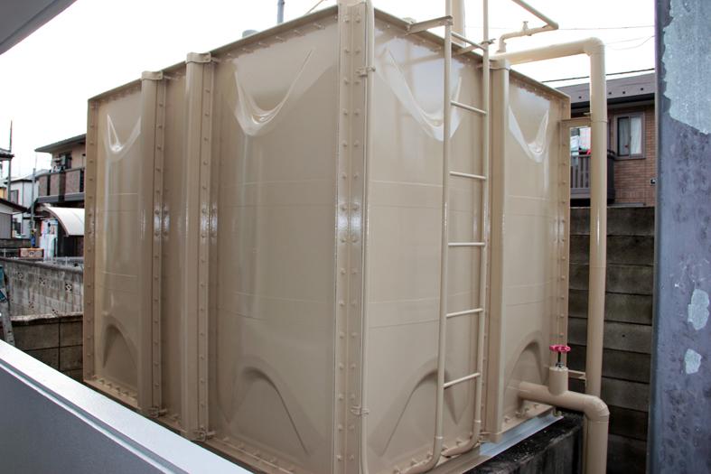 貯水槽遮光塗装