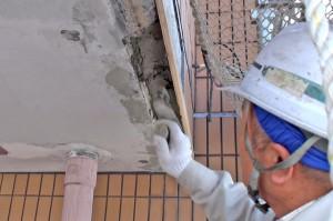欠損部補修-さいたま市、マンションの大規模修繕工事