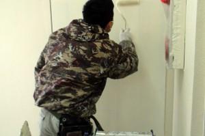 メーターBOX塗装の続き-さいたま市、マンション大規模修繕工事