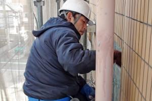 さいたま市、マンション大規模修繕工事-クリーニング班