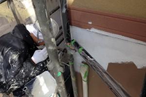 屋根中塗と外壁の下塗が完了-S様邸塗装工事