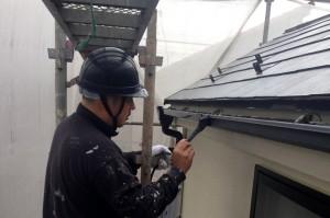 樋塗装、外壁塗装1階-S様邸塗装工事