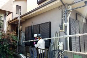 塗装工事着工-さいたま市緑区M様邸