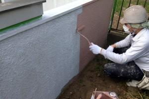 ドア塗装・塀塗装完了-さいたま市S様邸(高遮熱屋根塗装、外壁塗装)