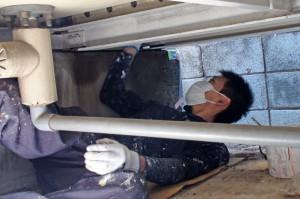 貯水槽の遮光塗装-さいたま市