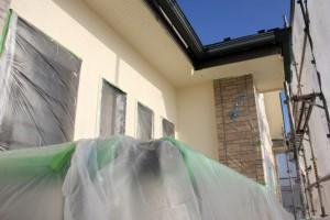 さいたま市大宮区-2階軒天塗装、2階外壁塗装が完了