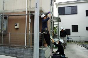 塗装工事、着工-さいたま市緑区O様邸