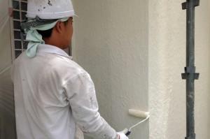 屋根中塗、外壁中塗、軒天塗装、飾り帯塗装-さいたま市緑区O様邸