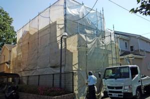 塗装工事着工-さいたま市浦和区、U様邸