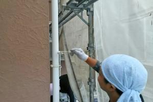 樋塗装、窓廻りの養生バラシ-さいたま市浦和区、U様邸