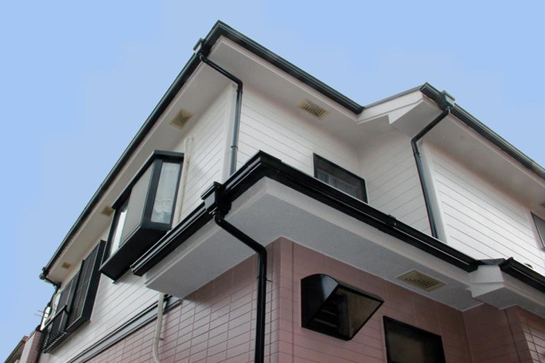 高遮熱屋根塗装、サイディングツートン塗装、ベランダ防水