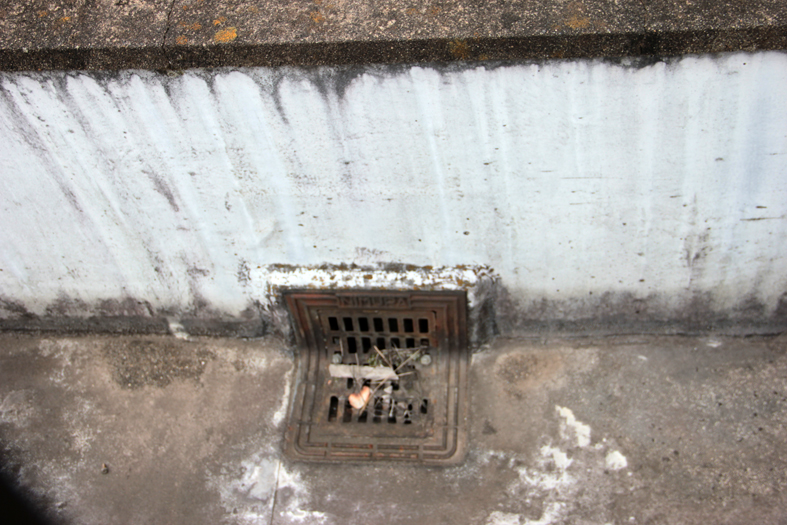 ドレイン設置-ウレタン塗膜防水、通気緩衝工法