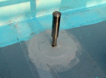 脱気塔設置-ウレタン塗膜防水、通気緩衝工法