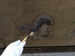モルタルの浮き-塗装・大規模修繕工事-さいたま市北区、Fマンション