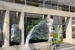 外構の塗装と木部の防腐塗装-さいたま市北区、Fマンション