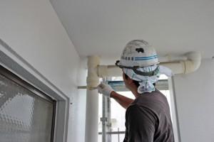 配管塗装と外構塗装-さいたま市北区、Fマンション