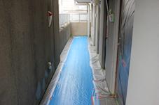 塗装、大規模修繕工事-さいたま市北区、Fマンション、養生