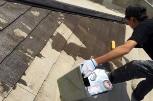 屋根塗装-さいたま市見沼区Mアパート塗装工事