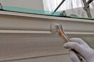 樋塗装と、外壁の下塗-さいたま市緑区S様邸、外壁塗装工事
