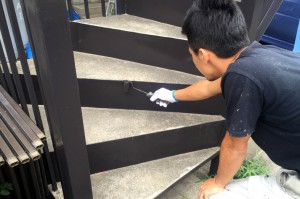 本体の最終点検と補修塗装-さいたま市見沼区Mアパート