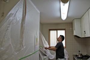 天井塗装が完了-さいたま市見沼区N教会