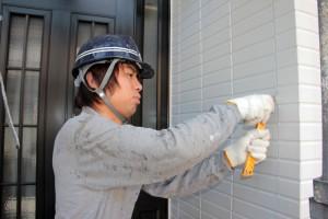 コーキングの撤去-さいたま市北区のM様邸、塗装工事
