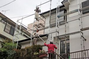 足場撤去-さいたま市北区のM様邸、屋根塗装、外壁塗装工事