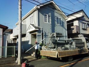 外壁塗装、屋根塗装が着工-さいたま市北区のS様邸