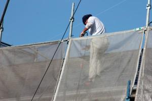 外壁塗装、屋根塗装のための高圧洗浄-さいたま市北区のS様邸